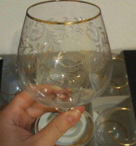 Коньячные бокалы 6 штук Bohemia