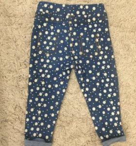 Леггинсы - джинсы на девочку. Рост 74