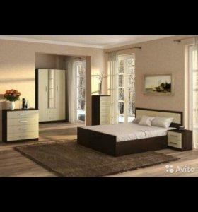 Спальный гарнитур/спальня ФИЕСТА с 3х ств шкафом!