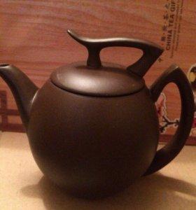 Чайник глина 380мл новый