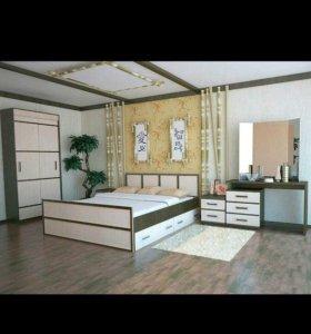 Спальный гарнитур/спальня САКУРА набор 1!
