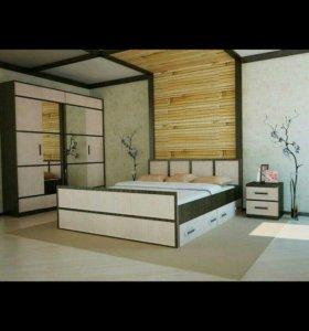 Спальный гарнитур/спальня САКУРА набор 4!