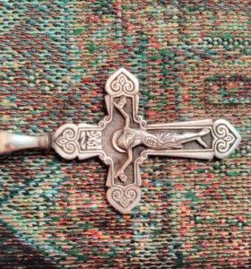 Крестик серебро 925