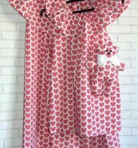 Платья для мамы и дочки + игрушка