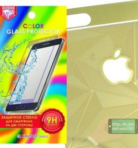 Стекло защитное цветное для iPhone 6 6s.