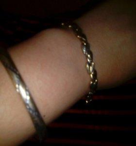 Браслеты.позолоченное серебро
