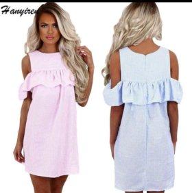 Платье розовое размер m