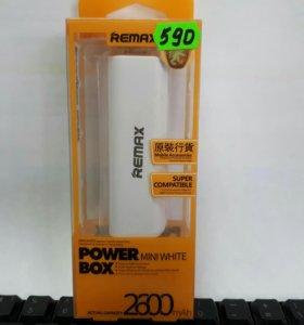 Новый Power bank Remax 2600 mah.