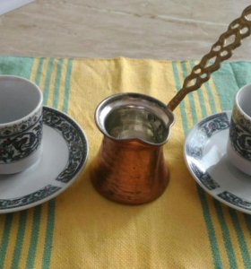 Кофейный набор(чашки+турка)