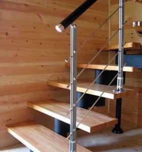 Модульная лестница из лиственницы