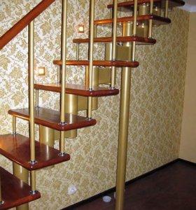 модульная лестница из ясеня