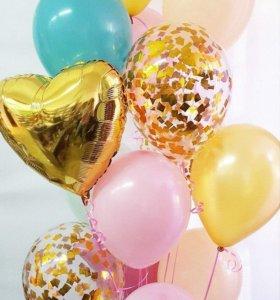 Гелиевые шарики, воздушные шары в Томске