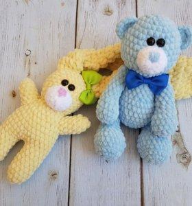 Плюшевая игрушкм Мишка Тедди ручной работы