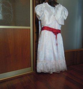 платье нарядное с накидкой рост 122
