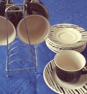 Чашки чайные с держателем