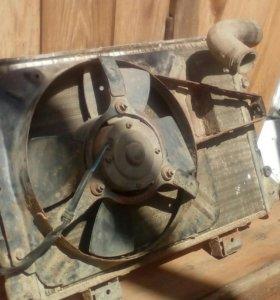 Радиатор с вентилятором ваз 2107