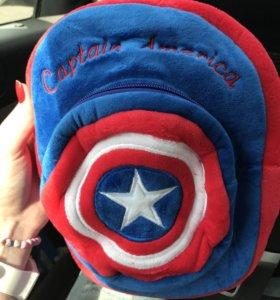 Новый детский рюкзак Captain America