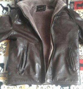 Куртка мужская кожзам мех