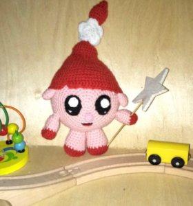 Малышарики вязаная игрушка панда и нюша