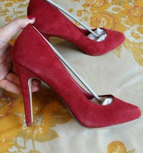 Туфли LAURA CLEMENT, нат.замша, р.39/25,5 см