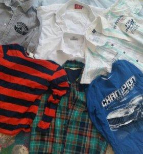 Рубашки пакетом для мальчика 10-12 лет