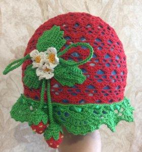 Панамка, шляпка вязанная крючком