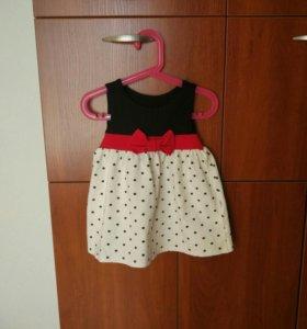 Платье трикотажное р-р 86