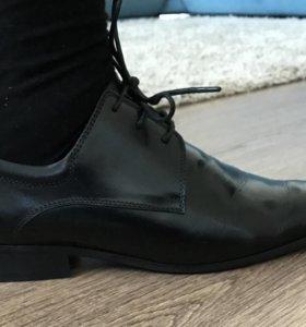 """Мужские модельные кожаные туфли, ботинки, """"Alibi"""""""