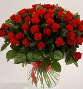 Срезанные Розы Эльторо напрямую из теплиц( Цветы )