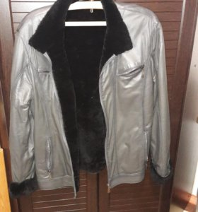 Мужская куртка натуральный мех натуральная кожа ра