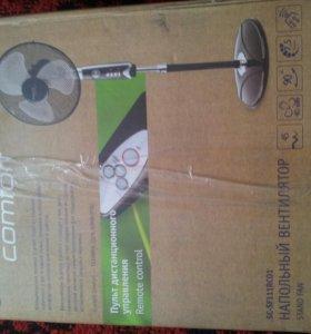 Новый напольный вентилятор с пультом