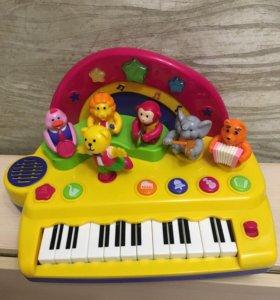 Пианино оркестр мишки тедди
