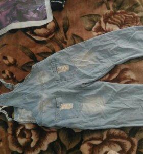 Комбинезон бриджи джинсовый новый
