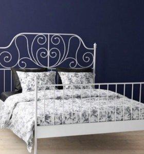 """двуспальная кровать ikea """" лейрвик"""" 160x200"""