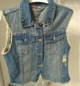 Жилет джинсовый для девочки