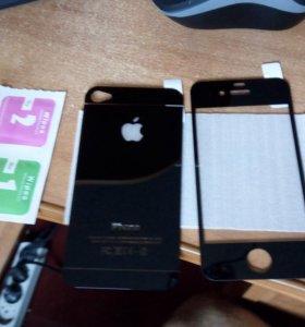 2 стекла на айфон 4 4s
