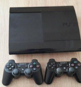 Sony playstation 3 500gb super slim 32игр gta Fifa
