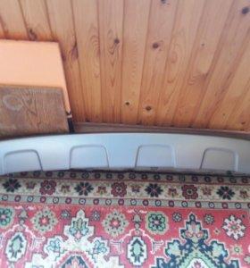 Накладка на задний бампер для Toyota Raf 4 2013