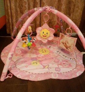 Музыкальный развивающий коврик детский