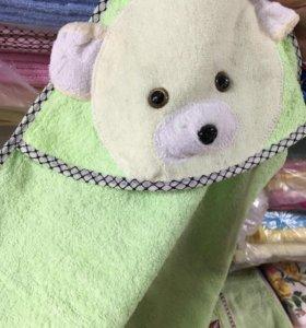 📌Детское Полотенце с капюшоном махровое