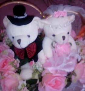 Свадебные кольца на машину(возможен торг)