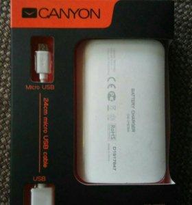 Внешний аккумулятор Canyon 7800MAH, белый