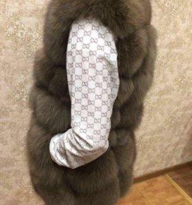Новая Песцовая жилетка