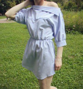 Новое Платье-рубашка на одно плечо