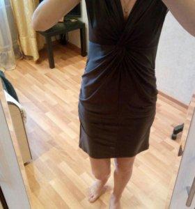 Платье шоколадного цвета