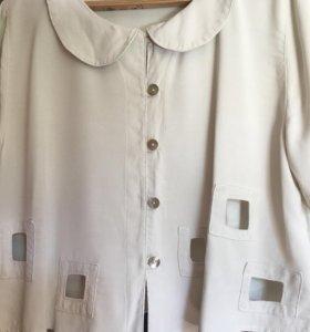 Блузка кремовая отл сост Польша 100% вискоза