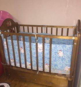Суперская Детская кроватка маятник кровать