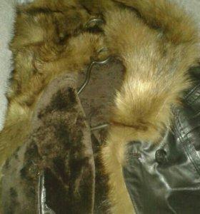 Зимняя натуральная кожанная куртка