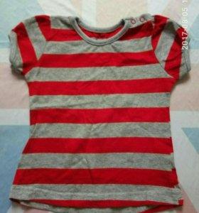 Новая майка футболка детская 74/80