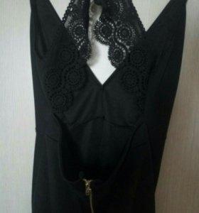 Коктейльное черное платье. Новое